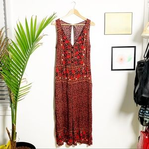 Free People Jumpsuit Fall Floral Loose Oversized M